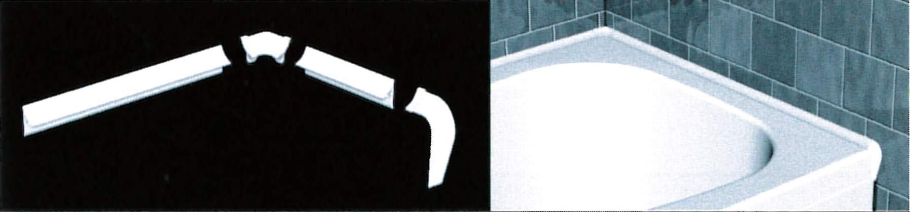 Profili per bordo vasca da bagno disegno domestico - Bordo vasca da bagno ...